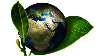 Green planet symbol