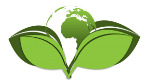 Green planet with no carbon footprint symbol