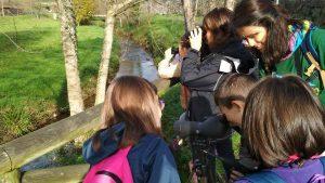 Salida ornitológica con los alumn@s del Colegio Peña Tú de Llanes