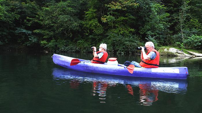 birding from a canoe